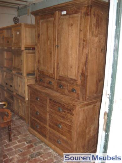 Buffetkast oud geborsteld teak teak meubelen eiken for Teakhouten kast