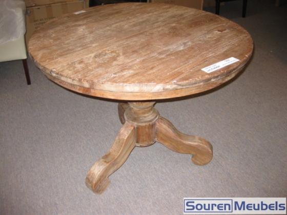 Ronde teak tafel oud hout teak meubelen eiken meubelen