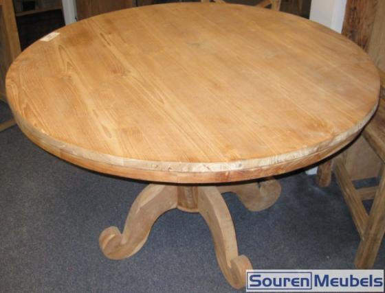 ronde teak tafel teak meubelen eiken meubelen