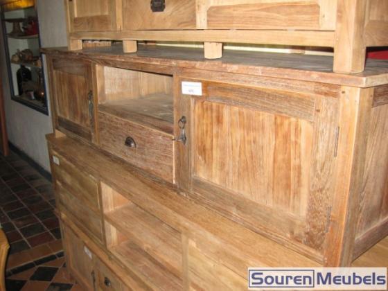 TV-meubel oud hout  Teak Meubelen & Eiken Meubelen