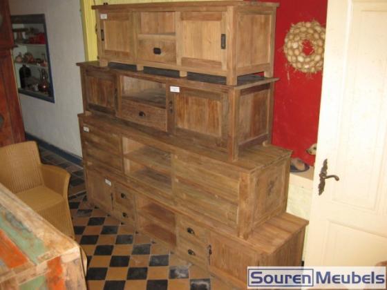 Tv-meubels oud hout  Teak Meubelen & Eiken Meubelen