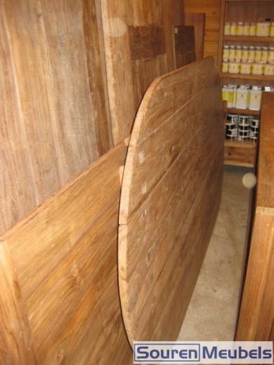 Ovale teak tafel gerecycled teakhout (2)