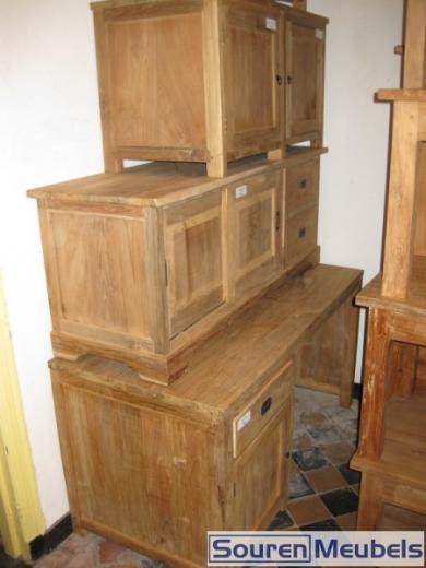 Teak bureau en tv meubels teak meubelen eiken meubelen for Meubels teak