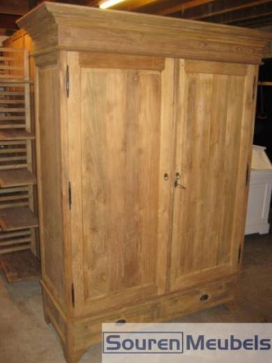 Teak garderobekasten en teakhouten kledingkasten (2)
