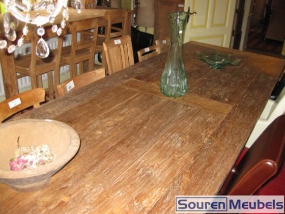 Teak tafel 350cm x 120cm