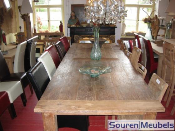 Teak tafel 350x120cm