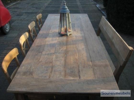 Teak tafel, doorleefd oud teakhout (10)