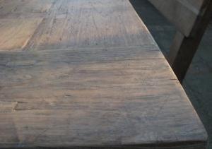 Teak tafel, doorleefd oud teakhout (4)