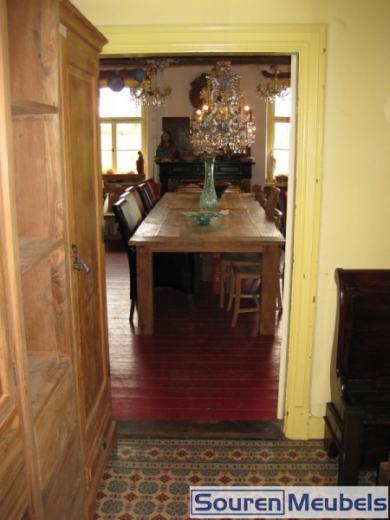 Teak tafel oud gerecycled teakhout
