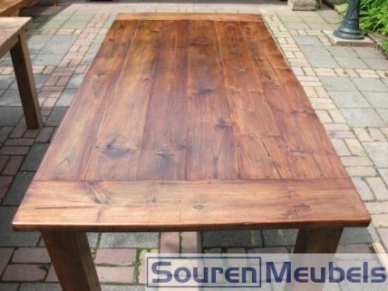 Teak tafel, teak tafels oud teakhout koloniaal (2) | Teak
