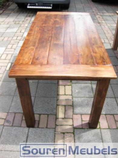 Teak tafel teak tafels oud teakhout koloniaal teak for Tafel schuren en olien