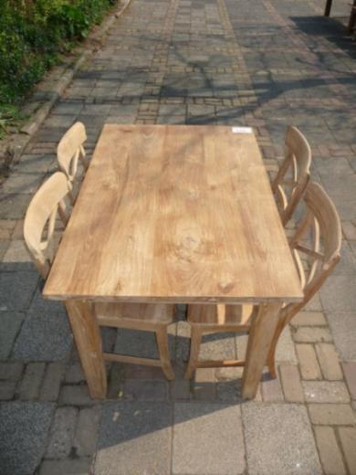 Teak tafel teakhouten keukentafel teak meubelen eiken for Teakhouten tafel