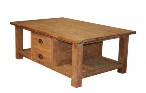 Teak tafel teakhouten salontafels 2 teak meubelen for Teakhouten tafel