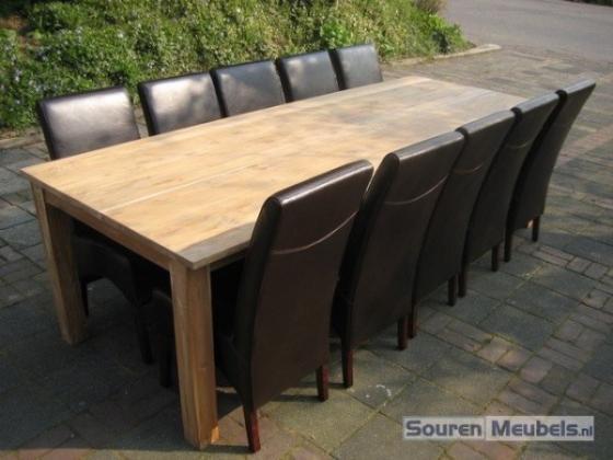 Teak tafel teakhouten tafels 2 teak meubelen eiken for Teakhouten tafel