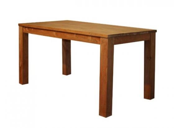 Teak tafel, teakhouten tafels, poten op de hoek (2)
