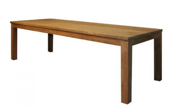 Teak tafel, teakhouten tafels, poten op de hoek (3)