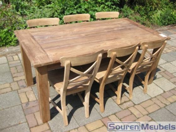 Teak tafel, teakhouten tuintafels (4)