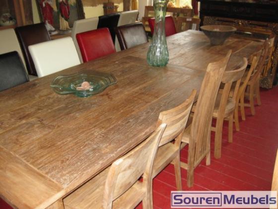 Teakhouten stoelen aan tafel teak meubelen eiken meubelen for Teakhouten tafel