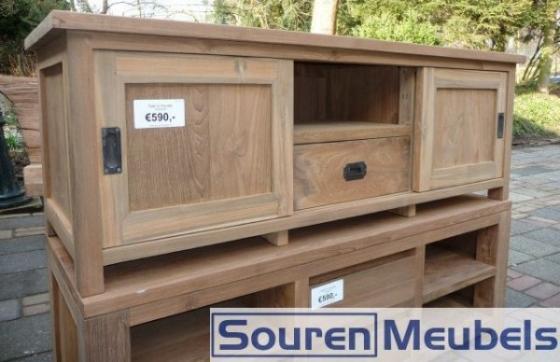 Teakhouten tv-meubel, teak tv-meubels (4)