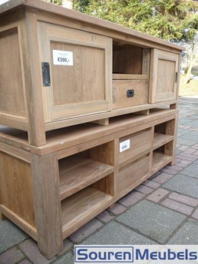 Teakhouten tv meubel teak tv meubels 6 teak meubelen for Meubels teak